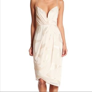 Free People Venus Draped Midi Dress Sz 12